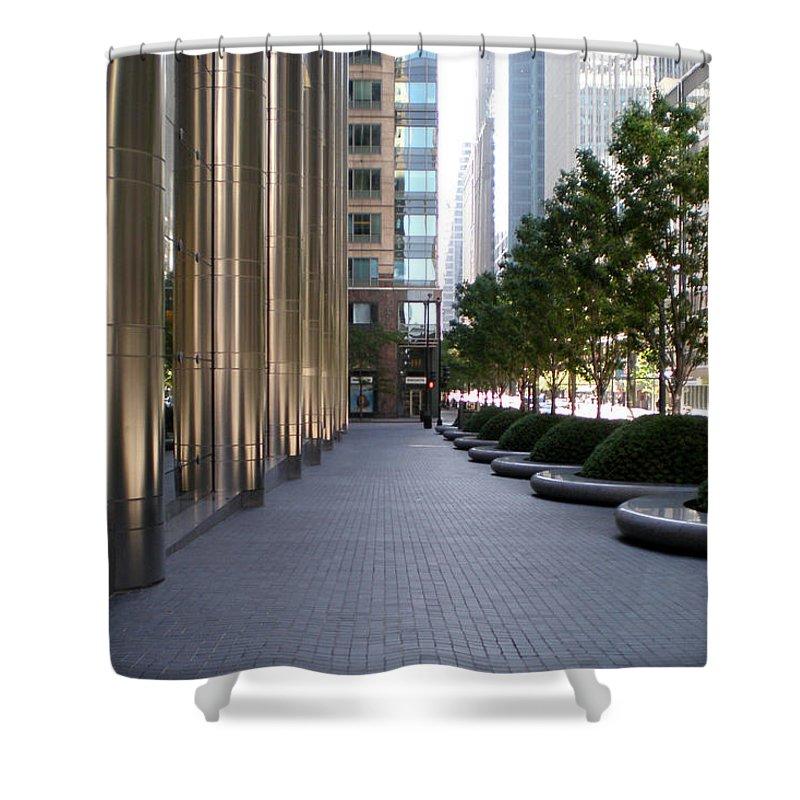 Sidewalk Shower Curtain featuring the photograph Empty Chicago Sidewalk by Ely Arsha