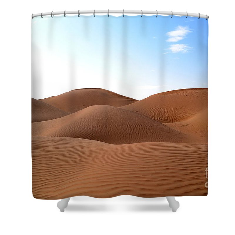 Desert Shower Curtain featuring the photograph Emtpy Quarter Dunes # 1 by Rossano Ossi