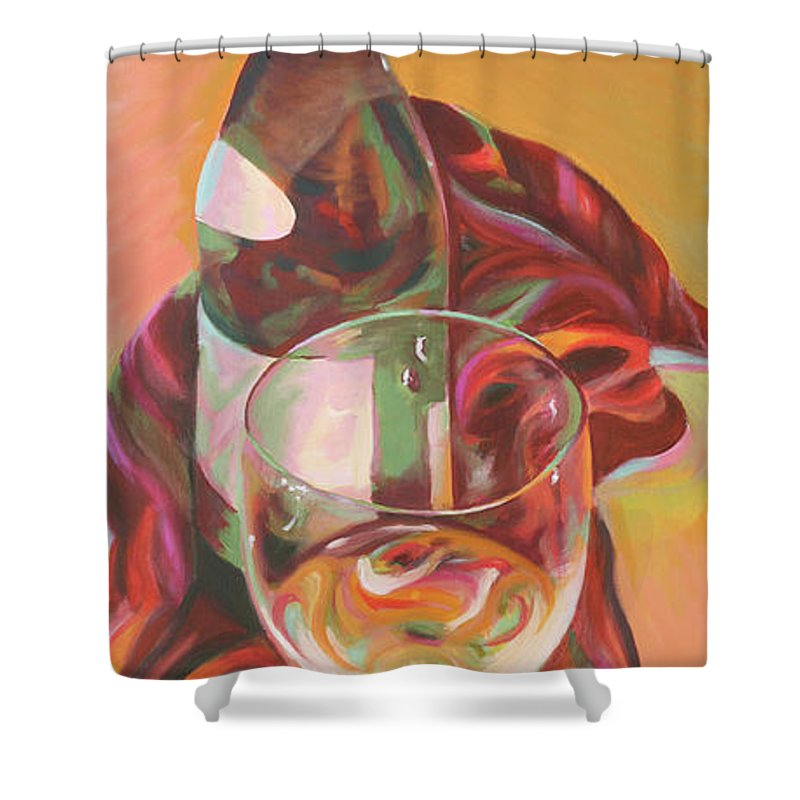 Still Life Shower Curtain featuring the painting Enchant by Trina Teele