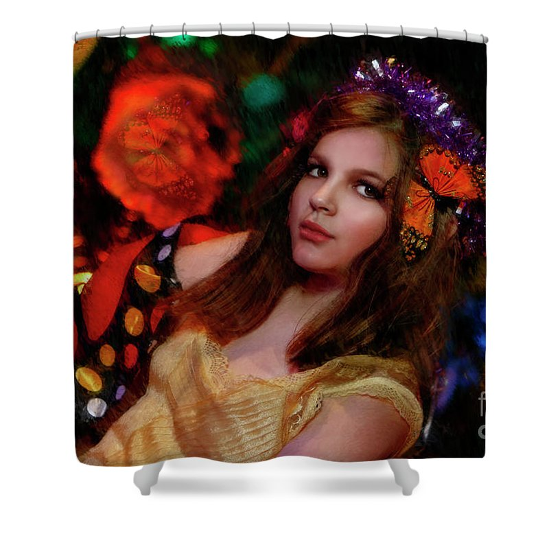 Shower Curtain featuring the photograph Enchanted Butterfly by Blake Richards