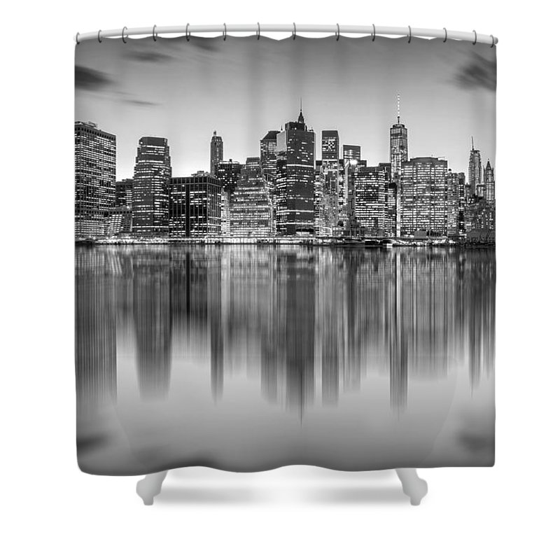 One World Trade Center Shower Curtain featuring the photograph Enchanted City by Az Jackson