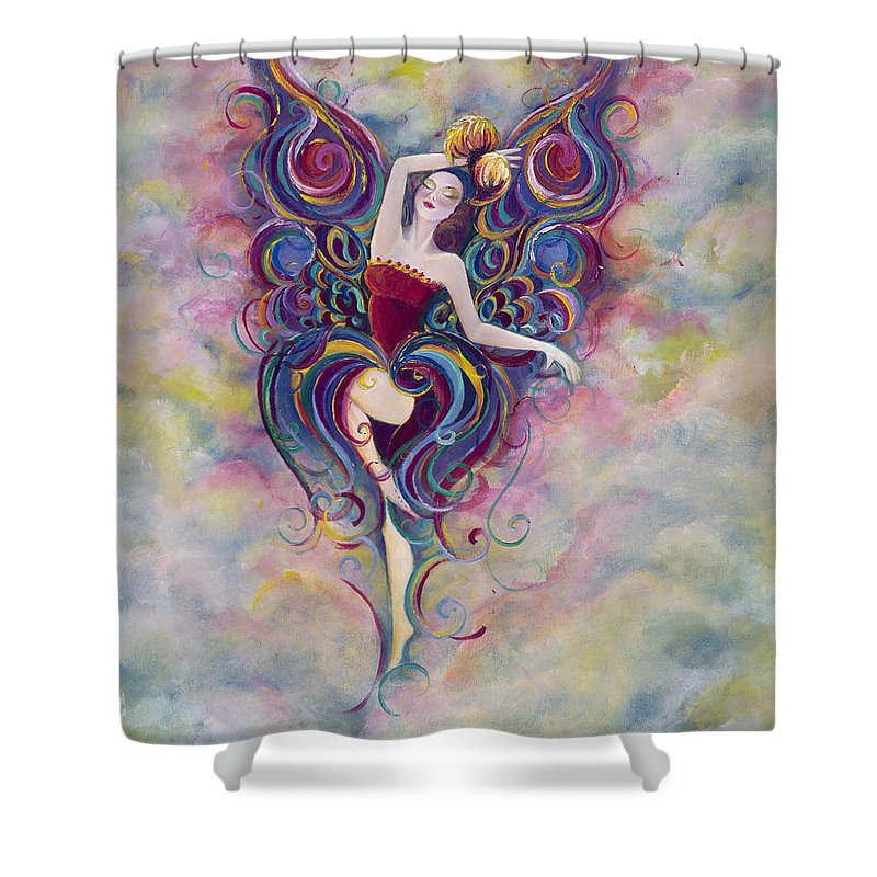 Women Shower Curtain featuring the painting Enchanted by Stephanie Broker