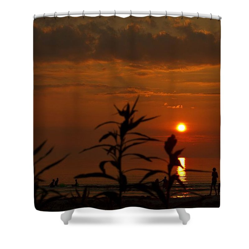 Sunset Shower Curtain featuring the photograph End Of A Day - 2 by Hany J