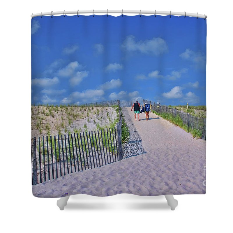 End Of Day Shower Curtain featuring the photograph End Of Day by Allen Beatty