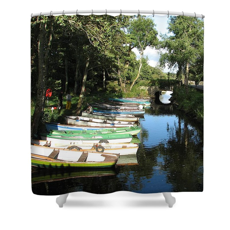 Boat Shower Curtain featuring the photograph End Of The Day by Kelly Mezzapelle