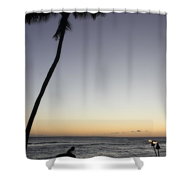 Surf Shower Curtain featuring the photograph End Of The Day by Lauri Novak