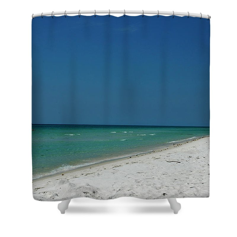 Photography Shower Curtain featuring the photograph Endless Horizon by Susanne Van Hulst