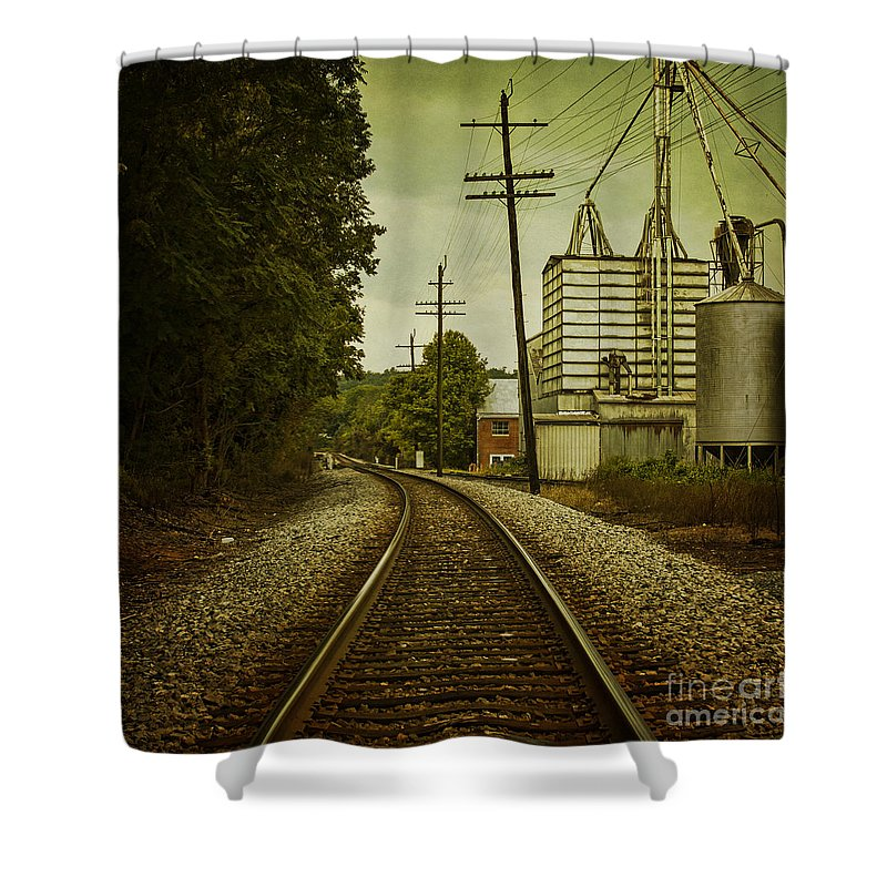 Train Shower Curtain featuring the photograph Endless Journey by Andrew Paranavitana