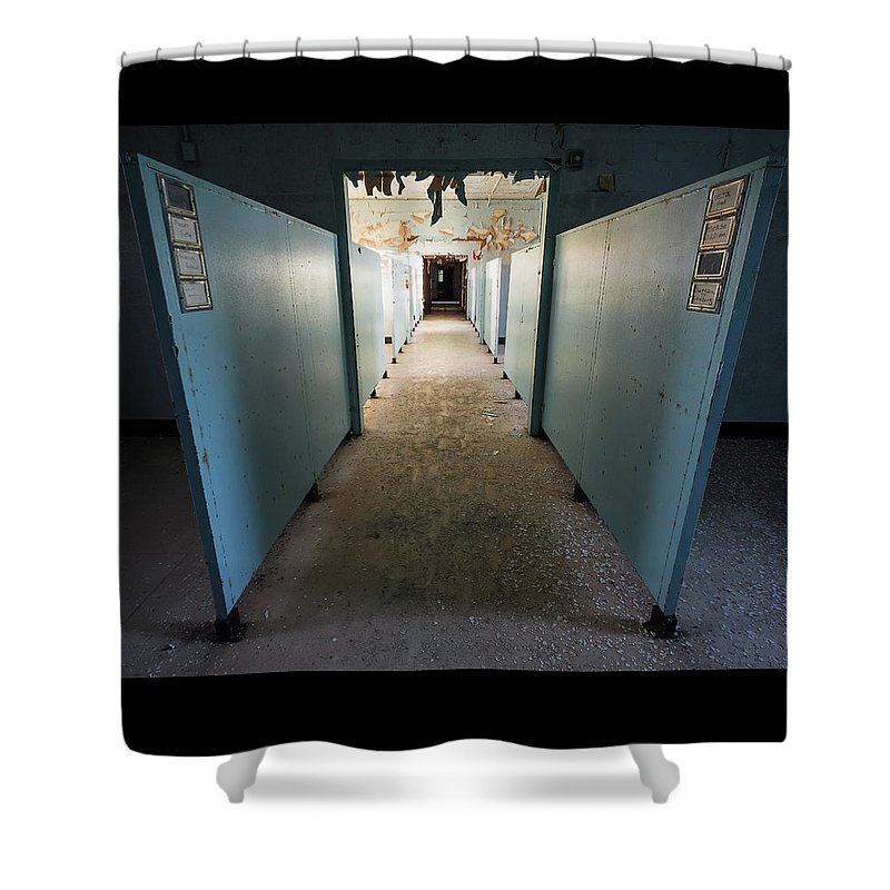 Urbex Shower Curtain featuring the photograph Endless by Marissa Mancini