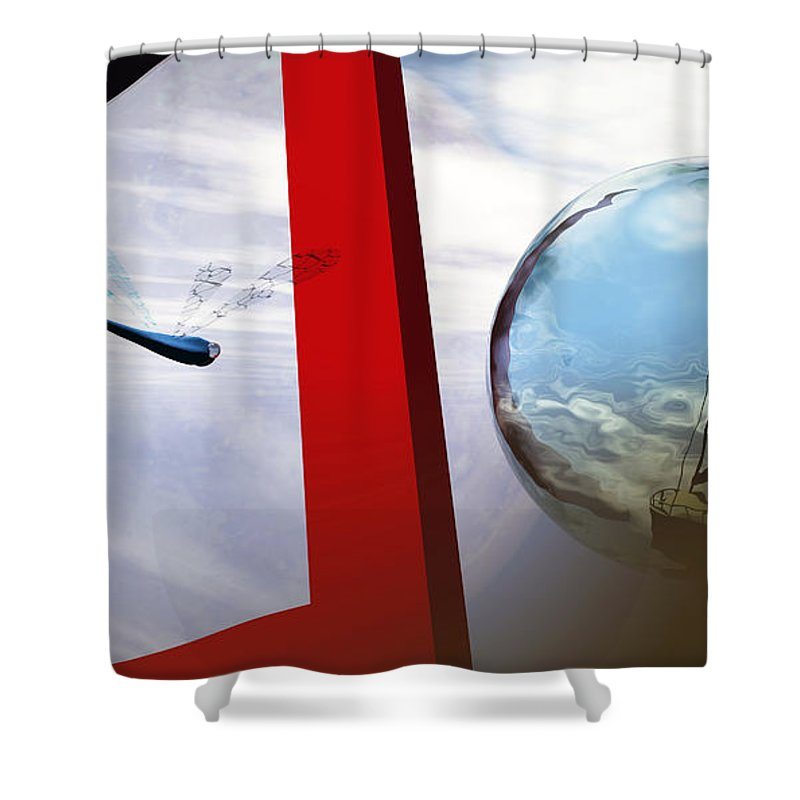 Surreal Shower Curtain featuring the digital art Endless Voyage by Richard Rizzo