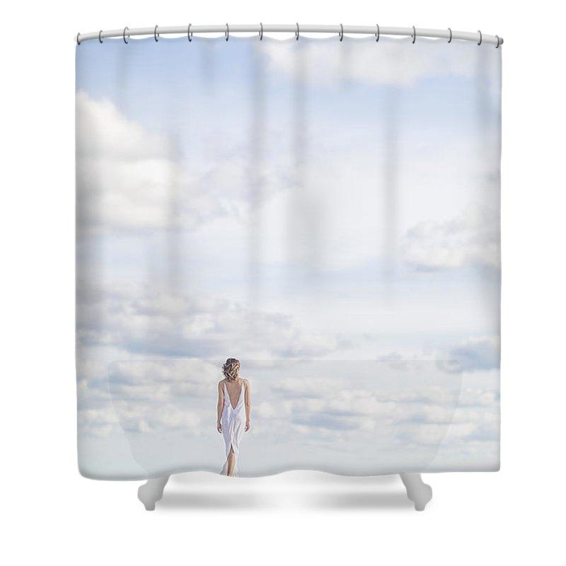 Wedding Dress Photographs Shower Curtains