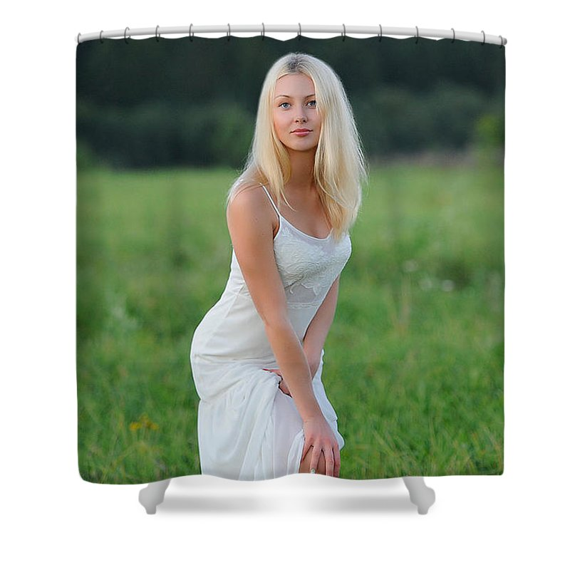 Endovex Shower Curtain featuring the digital art Endovex by Justina Englands