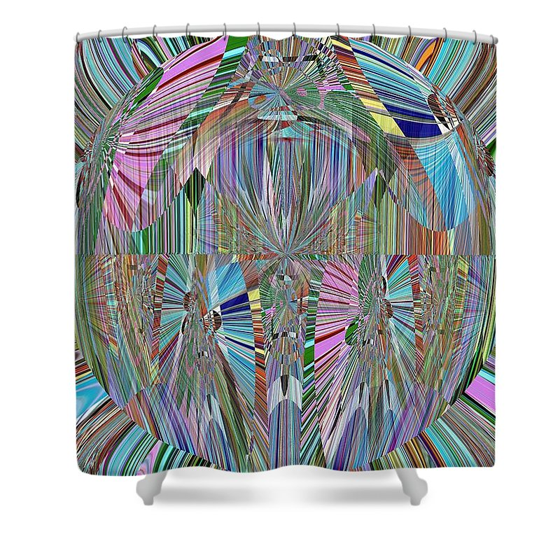 Abstract Shower Curtain featuring the digital art Energy 2 by Tim Allen