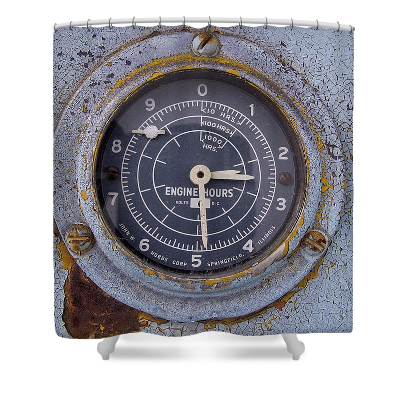 Gauge Shower Curtain featuring the photograph Engine Hours by Jeffery Ball