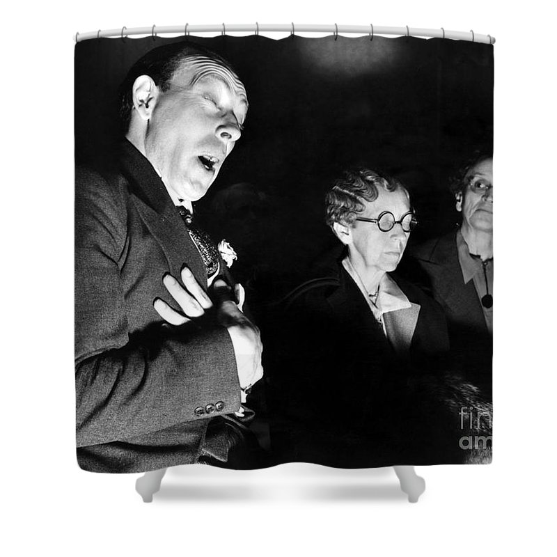 1937 Shower Curtain featuring the photograph English Seance by Granger