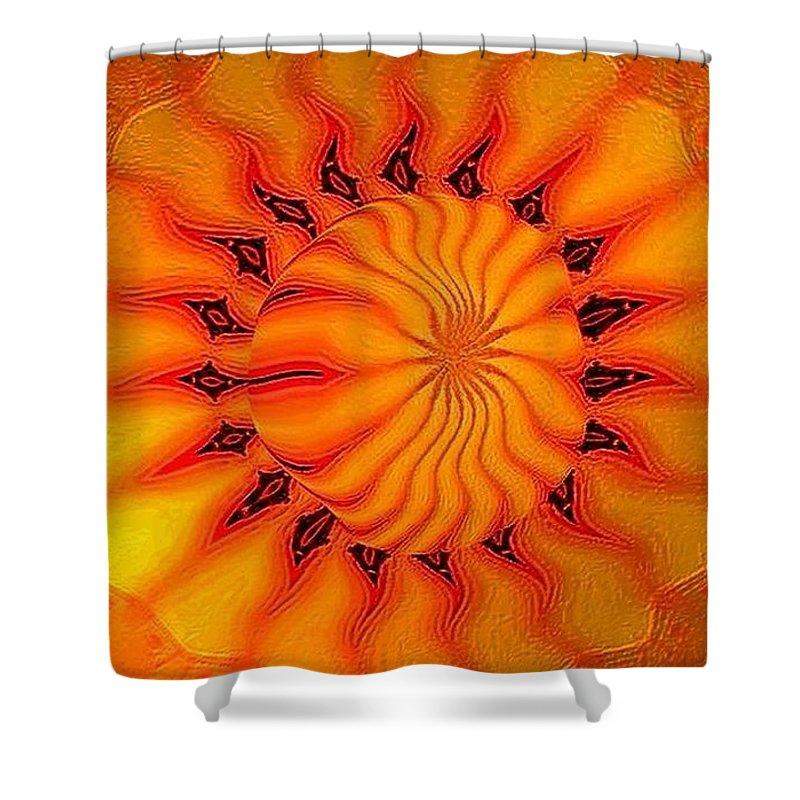 Sun Shower Curtain featuring the digital art Enlighten Me by Robert Orinski