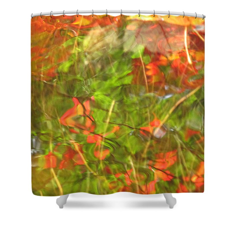 Abstract Shower Curtain featuring the photograph Entangled Adrift by Sybil Staples