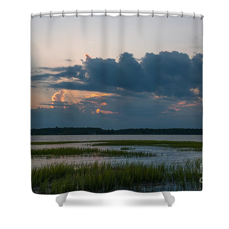 Sunset Shower Curtain featuring the photograph Enter Heavens Door by Dale Powell