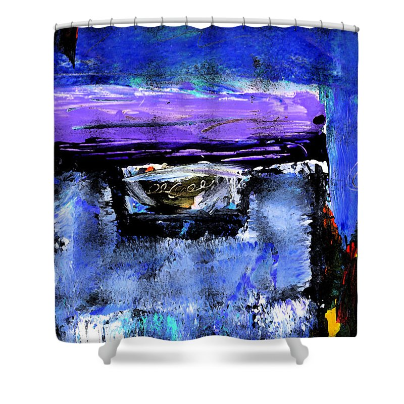 Abstract Shower Curtain featuring the painting Enter by Wayne Potrafka
