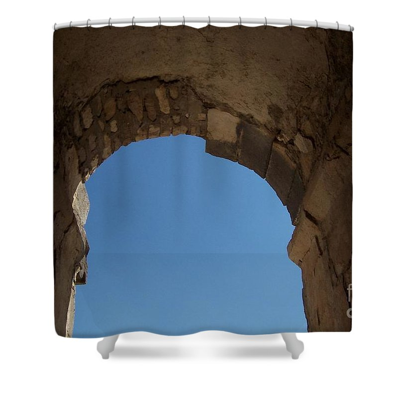 Arch Shower Curtain featuring the photograph Entrada by Jennifer Diaz
