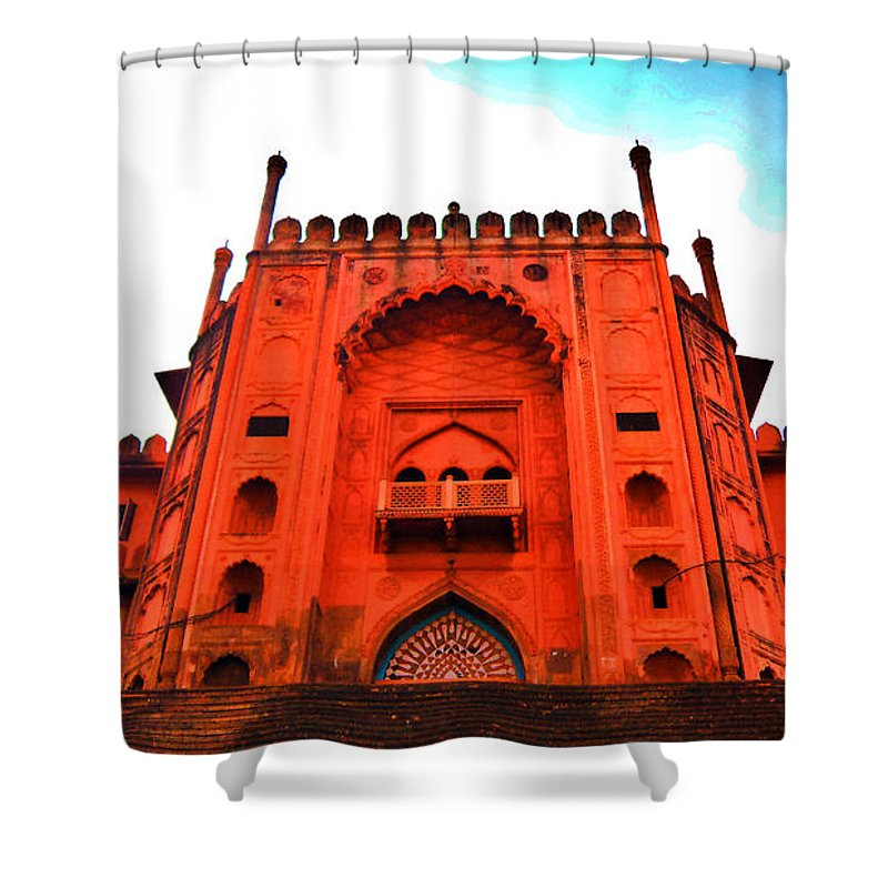 Architecture Shower Curtain featuring the photograph #entrance Gate by Aakash Pandit