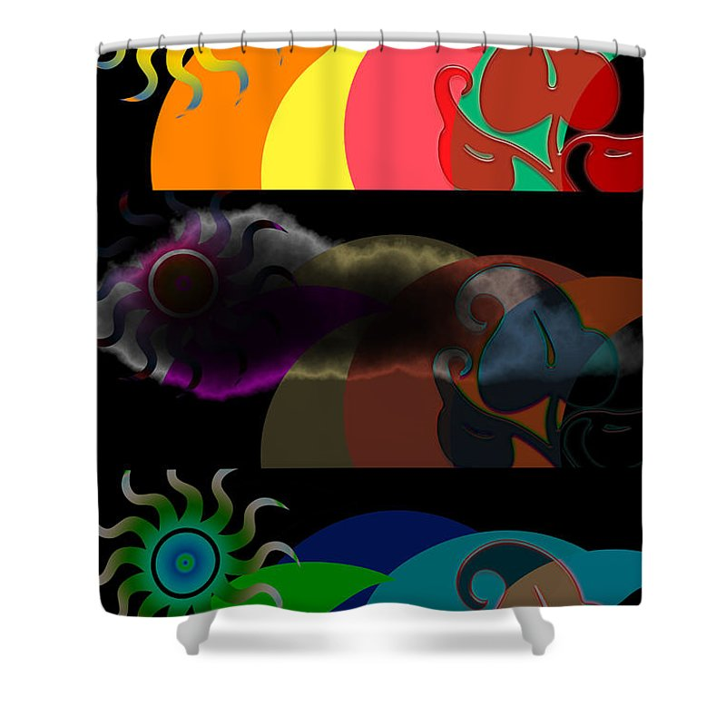 Shower Curtain featuring the digital art Environment by Clayton Bruster