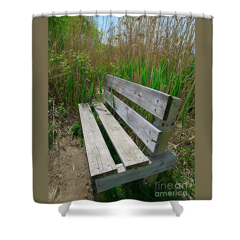 Environment Shower Curtain featuring the photograph Environmentally Friendly Seating by Ann Horn