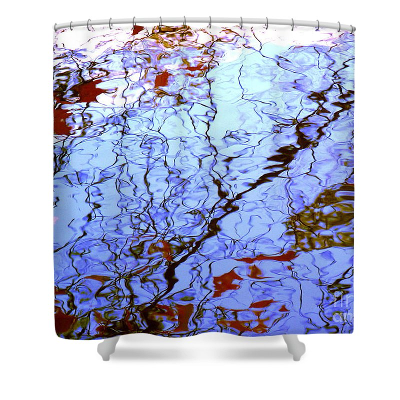 Water Art Shower Curtain featuring the photograph Envisioned Flow by Sybil Staples