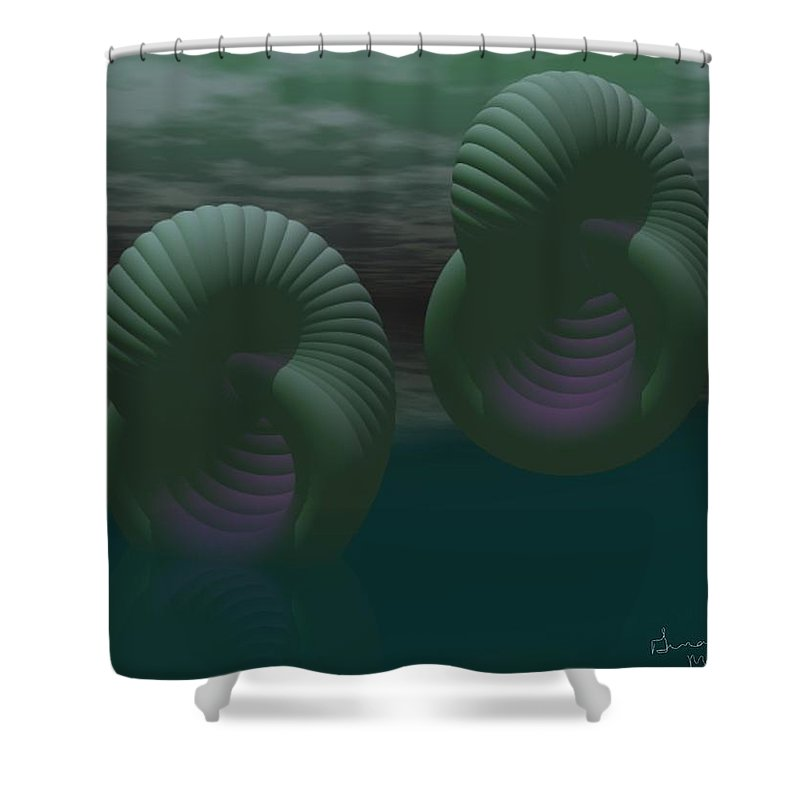Envy Shower Curtain featuring the digital art Envy by Gina Lee Manley