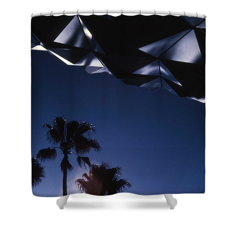 Epcot Shower Curtain featuring the photograph Epcot Abstract by Richard Rizzo
