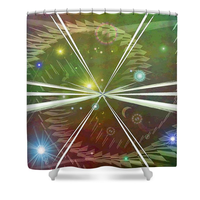 Epiphany Shower Curtain featuring the digital art Epiphany by Tim Allen