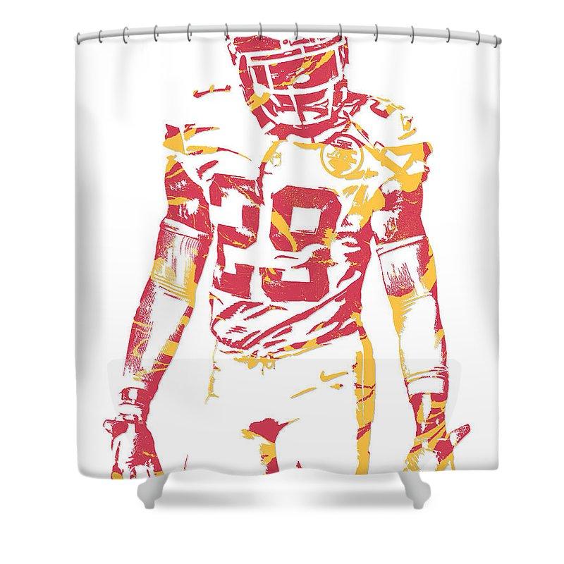 Eric Berry Kansas City Chiefs Pixel Art Shower Curtain For Sale By Joe Hamilton