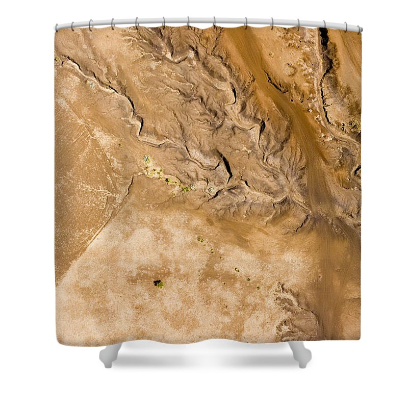 Landscape Shower Curtain featuring the photograph Erosive Patterns Are Emerging by Michael Fay