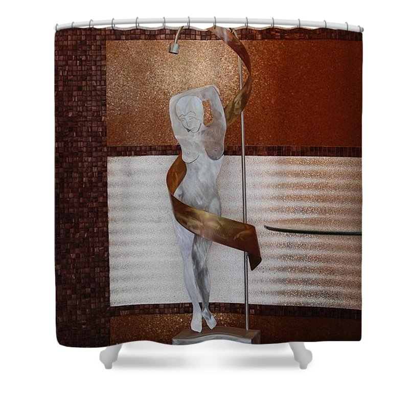 Statue Shower Curtain featuring the photograph Erotic Museum Piece by Rob Hans