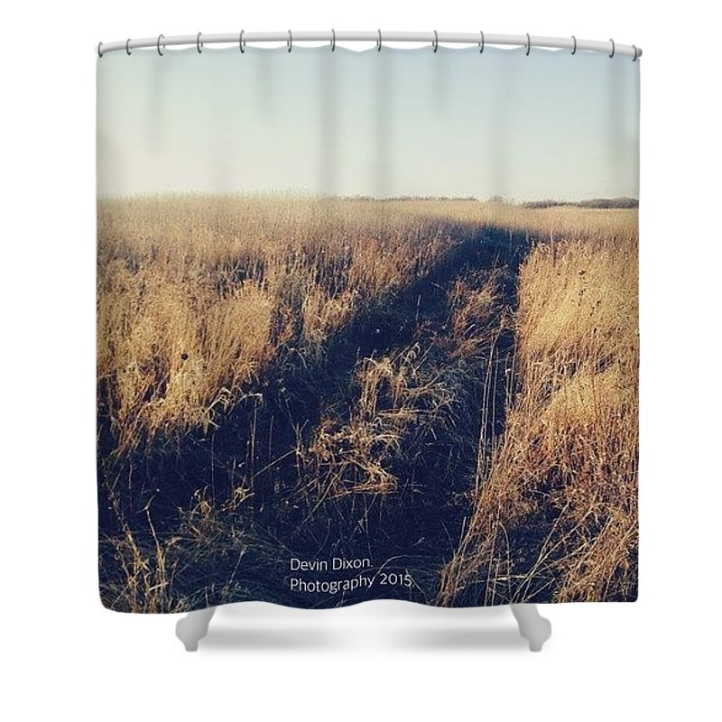 Valley Shower Curtain featuring the photograph Escape by Devin Dixon