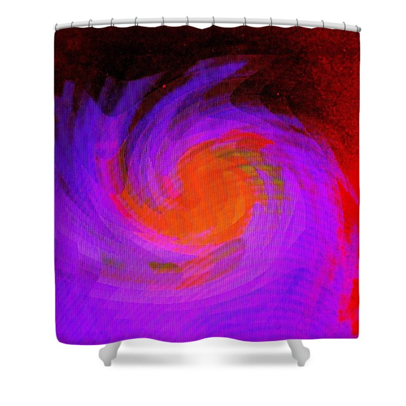 Abstract Shower Curtain featuring the digital art Escape by Ian MacDonald