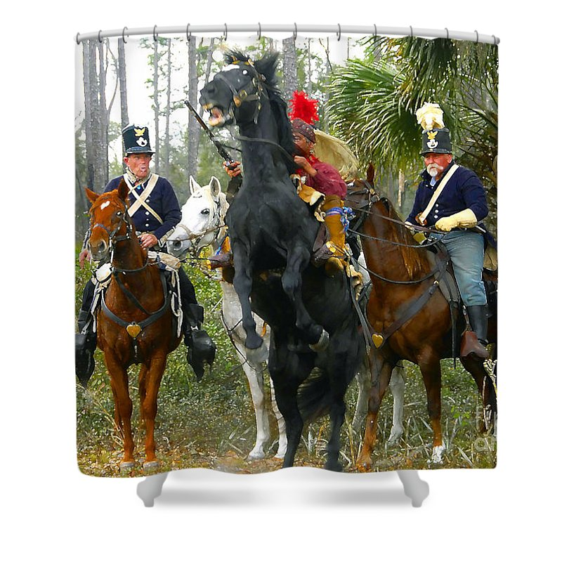 Seminole Indians Shower Curtain featuring the photograph Escape Of Billy Bowlegs by David Lee Thompson