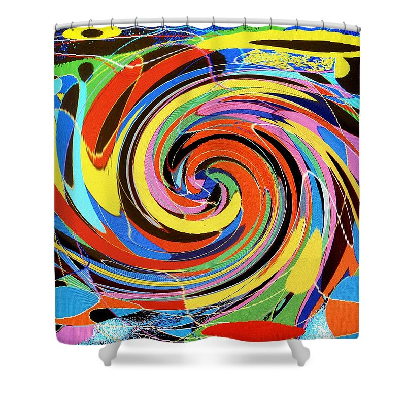 Shower Curtain featuring the digital art Escaping The Vortex by Ian MacDonald
