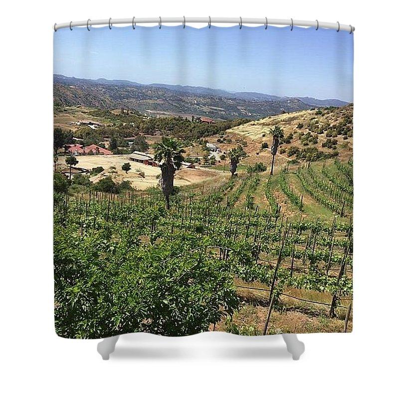 Shower Curtain featuring the photograph Escondido Calfornia by Freddy Alsante