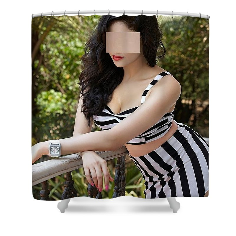 Chennai Escorts Shower Curtain featuring the painting Escorts Services In Chennai by Soniya Ayer