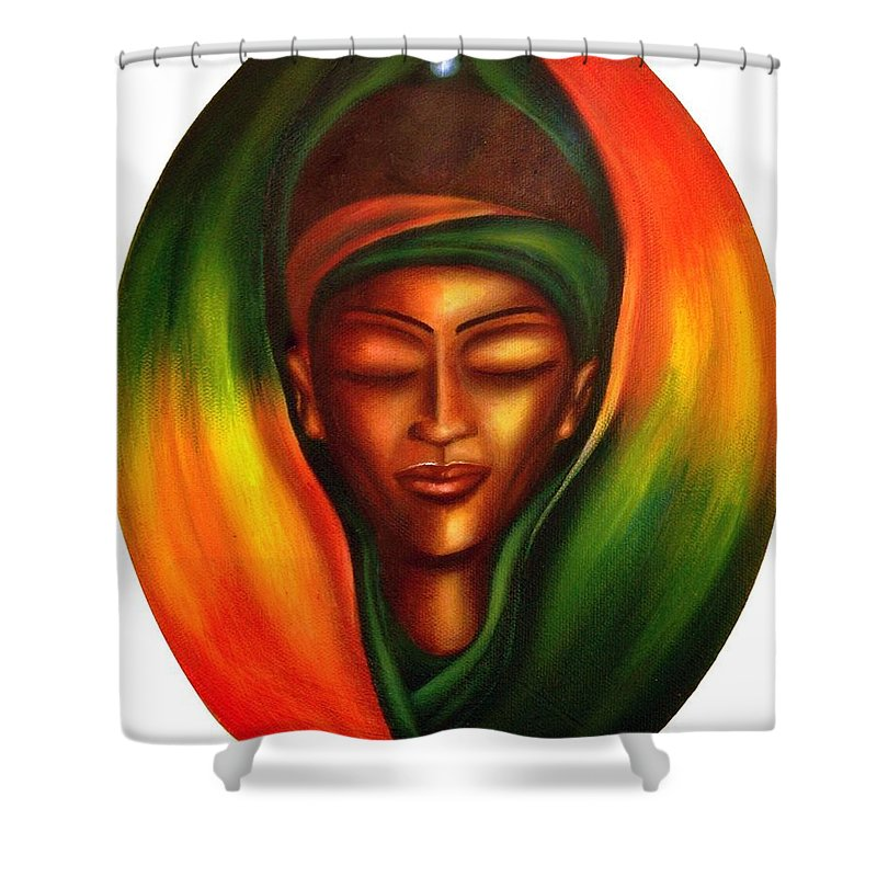 Beauty Shower Curtain featuring the painting Essence by Lee Grissett