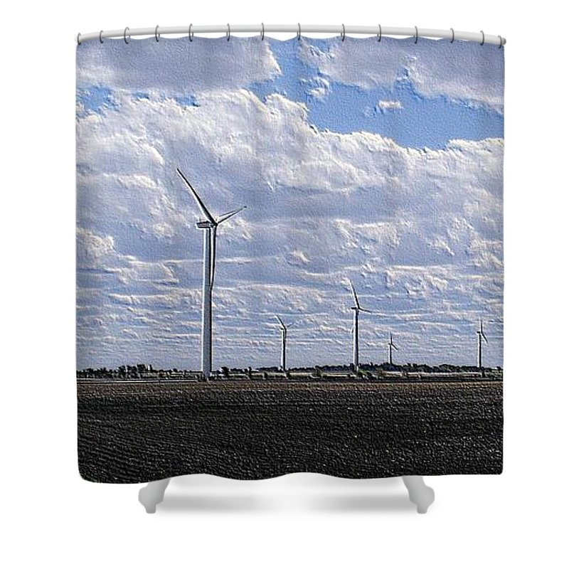Wind Shower Curtain featuring the photograph Etched In Stone by Ed Smith