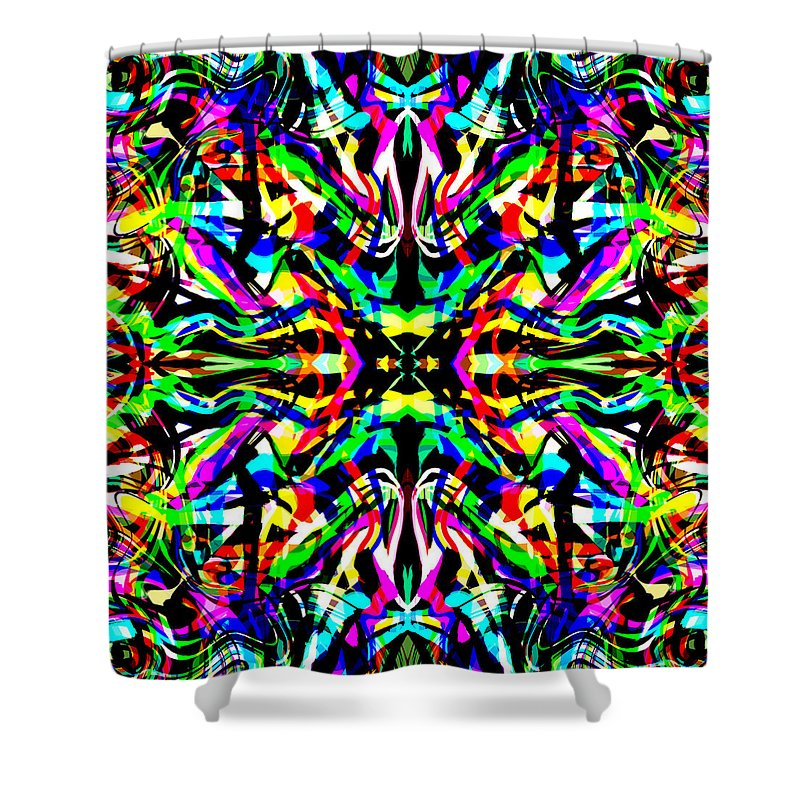 Abstract Shower Curtain featuring the digital art Eterna by Blind Ape Art