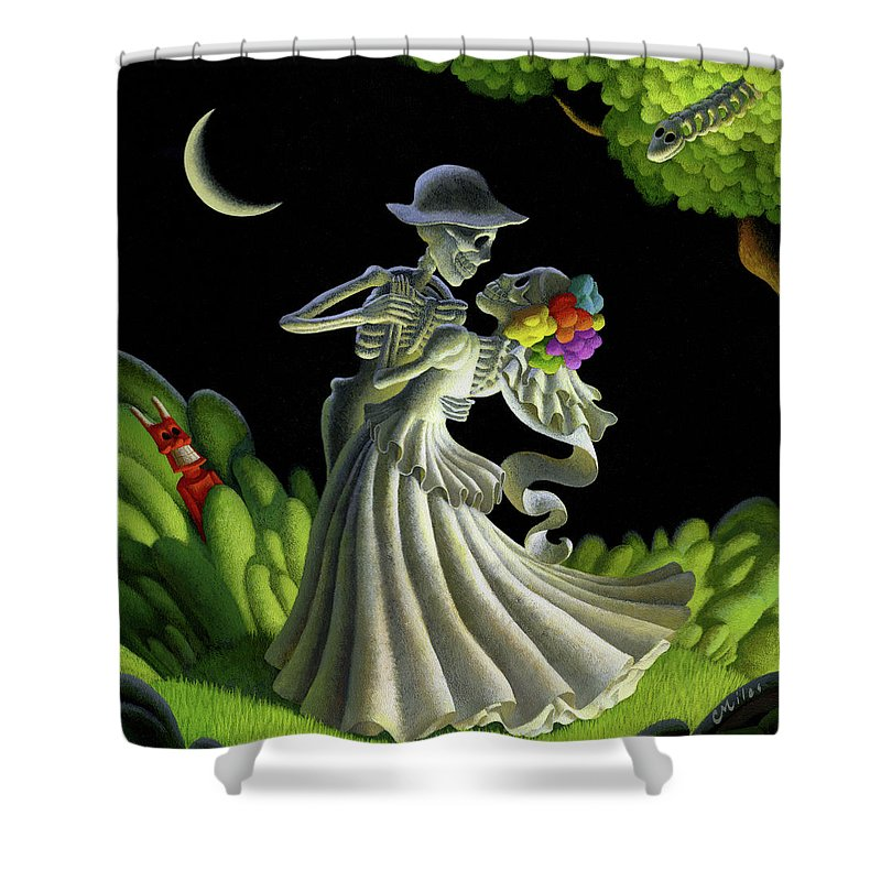 Wedding Shower Curtain featuring the painting Eternal Love by Chris Miles