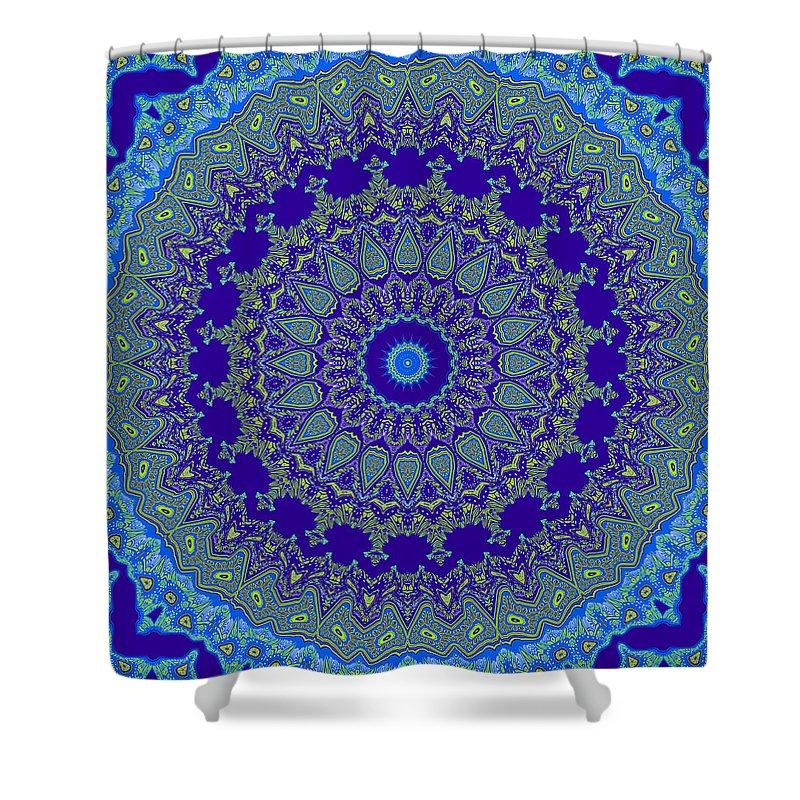 Digital Shower Curtain featuring the digital art Eternal Sea by Joy McKenzie