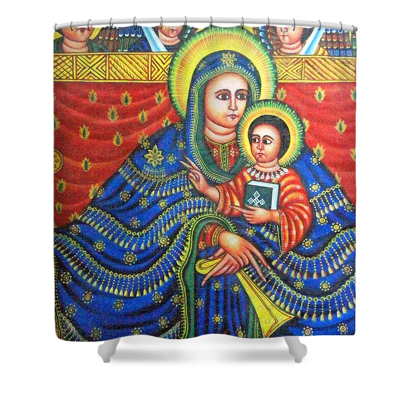 Ethiopian Angels Shower Curtain featuring the photograph Ethiopian Angels by Munir Alawi
