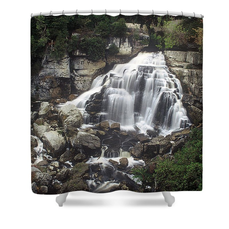 Ingliss Falls Shower Curtain featuring the photograph Ingliss Falls - Ontario by D'Arcy Evans