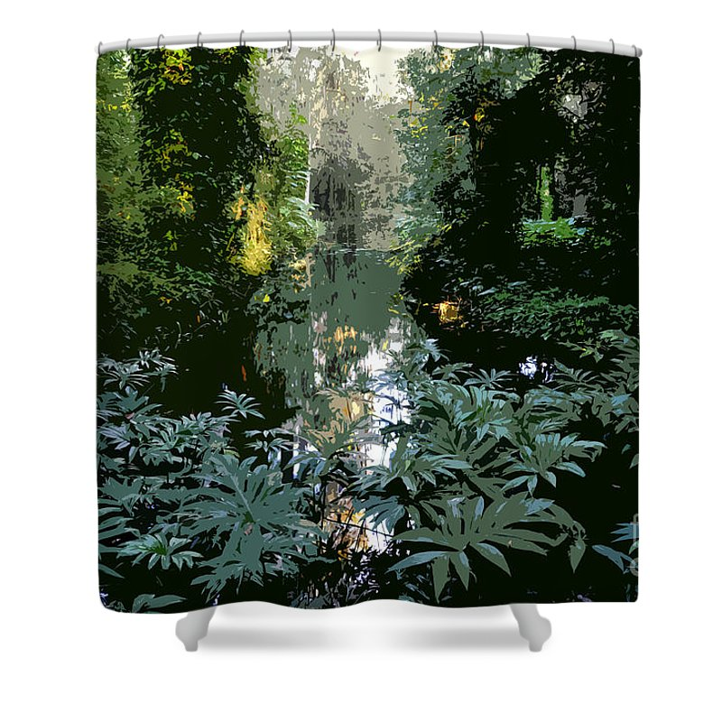 Spring Shower Curtain featuring the painting Eureka Springs by David Lee Thompson