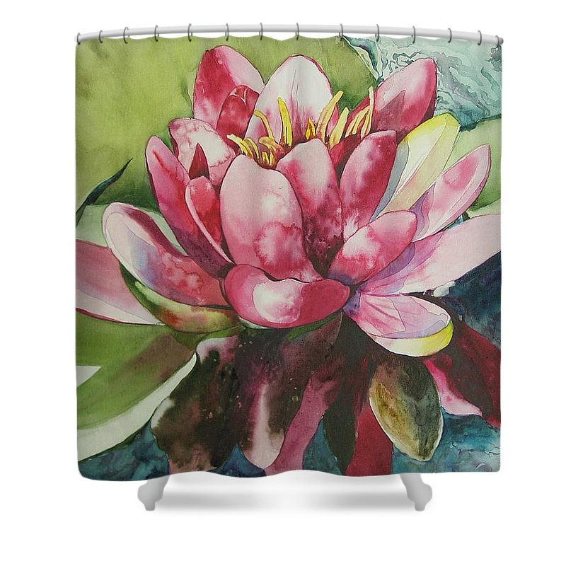 Flower Shower Curtain featuring the painting Eureka Springs Lily by Marlene Gremillion