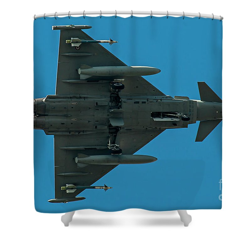 Force Shower Curtain featuring the photograph Eurofighter Typhoon 2000 Profile by Roberto Chiartano